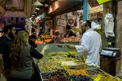 Mahane耶胡达市场在耶路撒冷,以色列 免版税库存图片