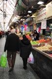 Mahane Yehuda Market i Jerusalem Israel Royaltyfri Foto