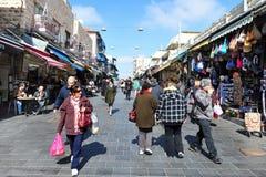 Mahane Yehuda Market i Jerusalem Israel Royaltyfri Bild