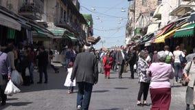 Mahane Yehuda Market in Jerusalem, Israel stock video footage