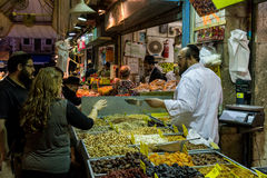 Mahane Yehuda rynek w Jerozolima, Izrael Obraz Royalty Free