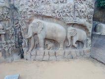 Mahapallipuram royaltyfria bilder