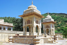 Maharadscha Sawai Mansingh II, Museum Jahrhunderts mitten in Mann Sager See aufgebaut Lizenzfreie Stockfotografie