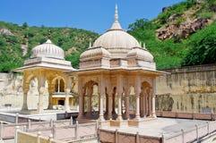 Maharadscha Sawai Mansingh II, Museum Jahrhunderts mitten in Mann Sager See aufgebaut Lizenzfreies Stockfoto