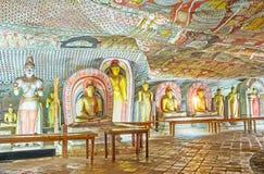 In Maharaja Cave of Dambulla Royalty Free Stock Images
