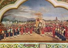 Maharaja of Mysore state on a Caparisoned Elephant stock images
