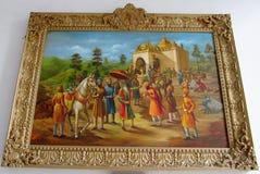 Maharaja Ranjit Singh museum painting Royalty Free Stock Photo