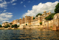 Maharaja's City Palace, Udaipur, India. Maharaja's City Palace reflecting in Lake Pichola, Udaipur, India Royalty Free Stock Photography