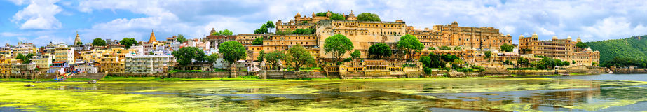 Maharajah Palace In Udaipur City, India Royalty Free Stock Photography