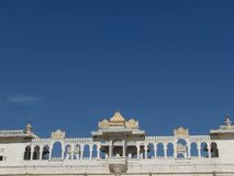 Maharajah's palace. Exterior details, in Udaipur, Rajasthan, India, Asia Royalty Free Stock Photo