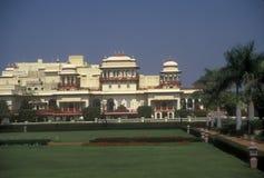 Maharajah's Palace. Mogul style Rambargh Palace. Now luxury hotel. Jaipur, Rajasthan, India Royalty Free Stock Photos