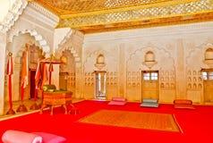 Maharajah Throne. Maharajah's throne in Mehrangarh fort, Jodhpur, Rajasthan, India Stock Photo