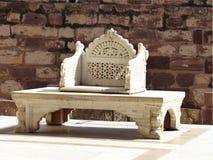 Maharana的王位, Mehrangarh堡垒,乔德普尔城 免版税库存照片