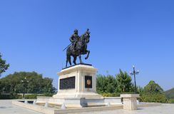 Moti Magri Udaipur India. Maharana Pratap statue in Moti Magri in Udaipur India Stock Photography