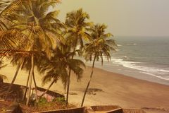 Maharashtra παραλία, Ινδία, Ινδικός Ωκεανός στοκ εικόνα με δικαίωμα ελεύθερης χρήσης