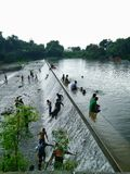 Maharashtra de nagpur do lago Futala Imagens de Stock Royalty Free