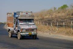 Maharashtra, India -January 5, 2012:  Colorful trucks brand TATA Royalty Free Stock Images