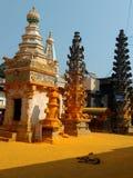 Maharashtra indiano do pali do templo do khandoba do deus imagens de stock
