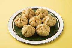 Maharashtrian festival food, modak. A sweet dish Stock Photos