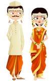 Maharashtrian ślubu para Obraz Royalty Free