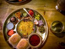 A Maharashtrian Misal dish from Pune royalty free stock photos