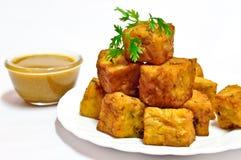 Maharashtrian Snack kothimbir vadi Royalty Free Stock Image