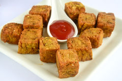 Maharashtrian Snack kothimbir vadi Royalty Free Stock Photo