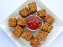 Maharashtrian Snack kothimbir vadi Royalty Free Stock Photography