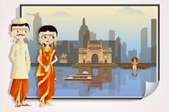 Maharashtrian Wedding Couple Stock Images