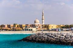 Maharba清真寺在迪拜 免版税库存照片
