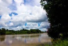 Mahasarakham省的池氏河 免版税库存照片