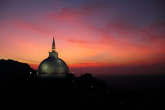Mahaseya Stupa at sunset Royalty Free Stock Photo
