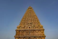Mahashivratri 2019: Thanjavur Grote Tempel op Blauwe Hemelachtergrond stock afbeelding