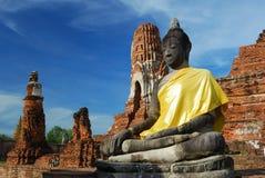 Mahatad temple Ayuttaya Thailand Stock Photos
