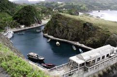 Mahatao-Boots-Schutz-Hafen Batanes, Philippinen Lizenzfreies Stockfoto