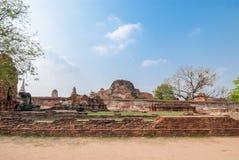 Mahathat di Wat, Ayutthaya, Tailandia Fotografia Stock Libera da Diritti