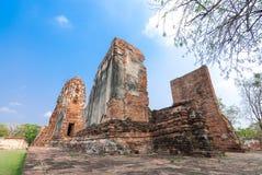 Mahathat di Wat, Ayutthaya, Tailandia Fotografie Stock