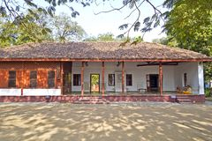 Mahatma en het huis van Kasturba Gandi in Ahmedabad royalty-vrije stock foto