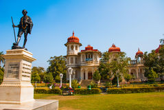 Mahatma Gahdhi statue in Udaipur, Rajasthan, India. The garden in the summer. Library Stock Image