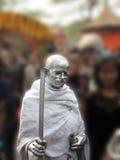 Mahatma Gandhi雕象 库存照片