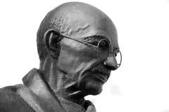 Mahatma Gandhi雕象 图库摄影