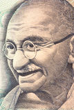 Mahatma Gandhi auf Bargeld-Anmerkung lizenzfreies stockfoto