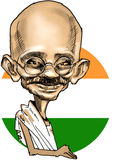 Mahatma Gandhi caricature Stock Photography