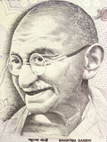 Mahatma Gandhi on Currency Note Royalty Free Stock Images