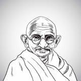 Mahatma Gandhi Ejemplo del dibujo del retrato del vector 31 de octubre de 2017 ilustración del vector