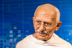 Mahatma Gandhi Figurine At Madame Tussauds Wax Museum Royalty Free Stock Photography