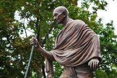 Mahatma Gandhi. Het monument in Moskou. Stock Afbeeldingen