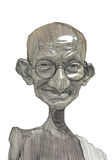 Mahatma Gandhi illustration Sketch Stock Image