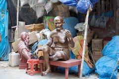 Mahatma Gandhi in Kumortuli, Kolkata, India royalty free stock photos