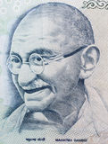 Mahatma Gandhi. Macro shot of Indian Currency with details of  Mahatma Gandhi's picture in Denomination 500 rupees Royalty Free Stock Image